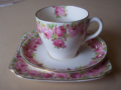 Royal Doulton Raby Rose Trio (cup, saucer & plate)