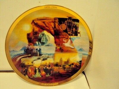 Utah Centennial Collectible Plate 1896-1996-  Portraits of Utah