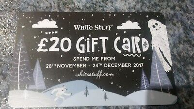 White Stuff £20 Gift Card Voucher Valid 28/11/2017 To 24/12/17