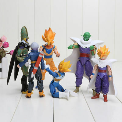 6pcs/set Dragonball Z Dragon Ball Goku Vegeta Piccolo Gohan super saiyan Action