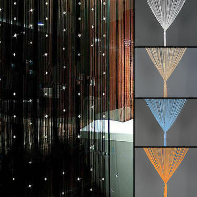 New Beaded String Door Curtain Fly Screen Panel Room Divider Window Decor Tassel