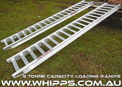 5 Tonne Capacity Excavator Loading Ramps 3.6 Metres x 450mm track width