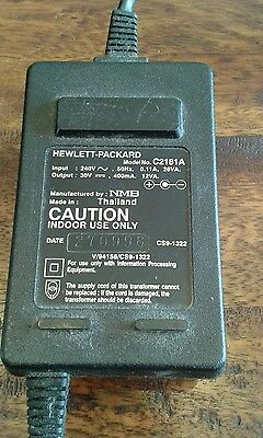 *GENUINE HP* DESKJET PRINTER AC POWER ADAPTER  C2181A  30V@400mA 12W