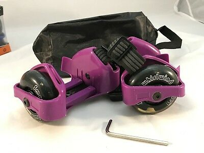 Small Whirlwind Pulley Detachable Roller Skates with LED Light,purple XMAS
