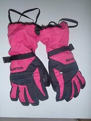 Burton Womens Ski/snowboard Gloves, Black & Pink, Size Large, New Without Tags