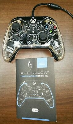 XBox One Afterglow Dual Vibration Wired Gamepad Controller + USB & Instructions