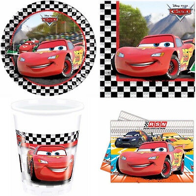 DISNEY CARS PARTY SET TABLE WARE - Kids Birthday Plate Cup Napkins Dispose Paper