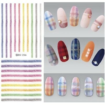 20 Stickers ongles nails art  couleur etoiles decoration ongle