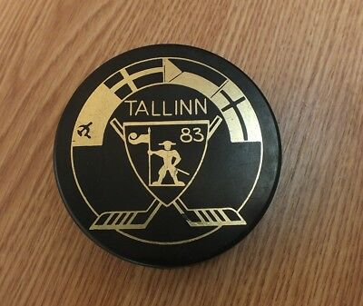 1983. Soviet Union Hockey Puck, Tallinn, Soviet Estonia, Made in USSR.