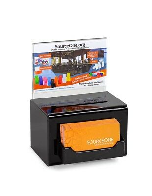 6 PACK SourceOne Donation Box W/ Lock Keys Sign & Business Card Holder