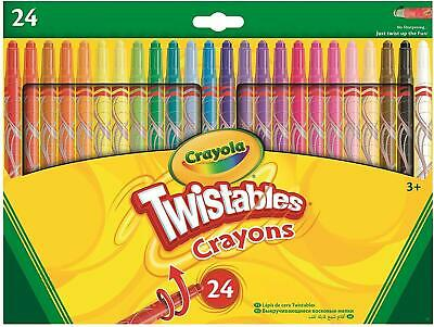 24 Crayola Twistable Twist Up Colouring Crayons With Vibrant Colours