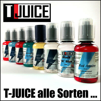 T-Juice Aroma 30ml Strawberri Red Astaire High Voltage, Rude Oil Black n Blue