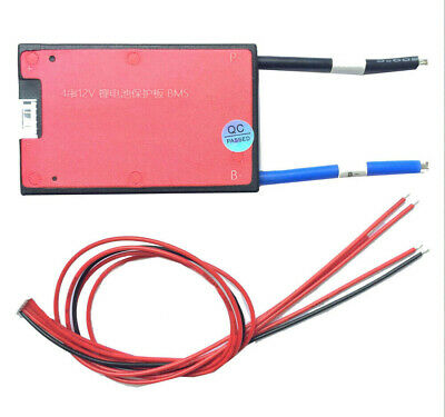 Waterproof BMS 4S 12V 25A 35A 45A 60A LiFePO4 Battery Charger Proection Balanced