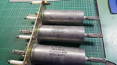 3 X RFI CYLINDRICAL FILTERS  , T CIRCUIT TYPES , 25 db MINIMUM AT 0.15 MHz