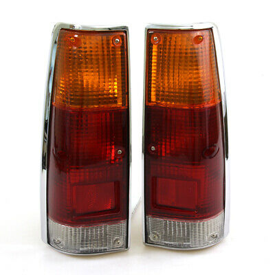 Isuzu Rodeo Luv Pickup Pup Truck Chrome Tail Light Lamps Pair 2 Pieces 1983-1988