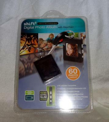Shift Usb 2.0 Rechargeable Digital Photo Album With Keychain