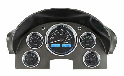 Dakota Digital 1956 Ford VHX Gauges Black Alloy Face~Blue Display VHX-56F-K-B