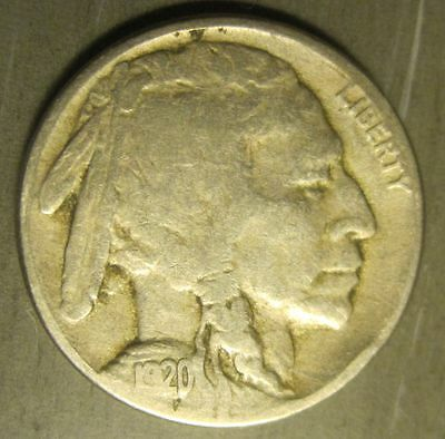 1920-S Buffalo Nickel - 4 digit date NICE COIN!   1062