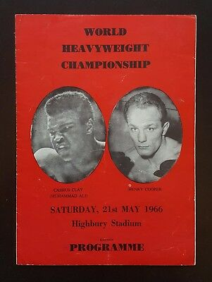 1966 MUHAMMAD ALI v HENRY COOPER scarce version boxing programme Cassius Clay