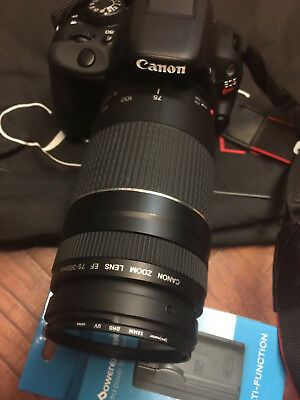 Canon EOS Rebel SL1 18.0MP Digital SLR Camera 75-300mm LENS