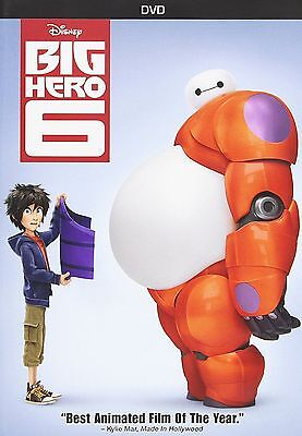 Big Hero 6 ( DVD, 2015 ) Anime, Family , Kids, Adventure SHIPPING NOW !!!!!!!