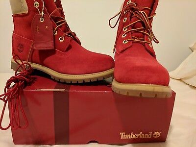 WOMENS TIMBERLAND BOOTS  size 8  limited edition red suede -  250.00 ... f9fba201d
