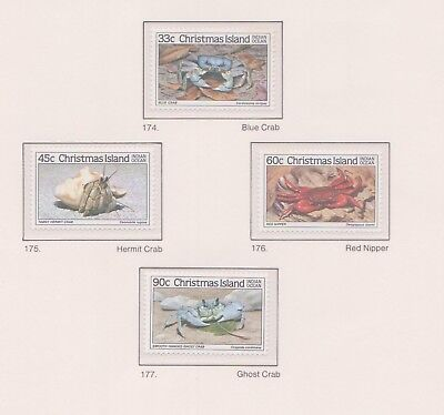 (K53-38) 1985 AU Christmas Island 4set crabs part 2 MUH