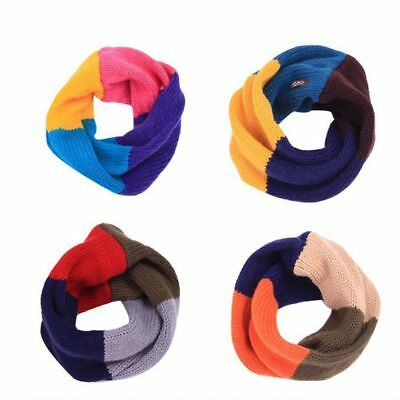 Color Knitted Scarf Winter Collar Scarves Boy Girls Warm Age For 1-6 Years Old