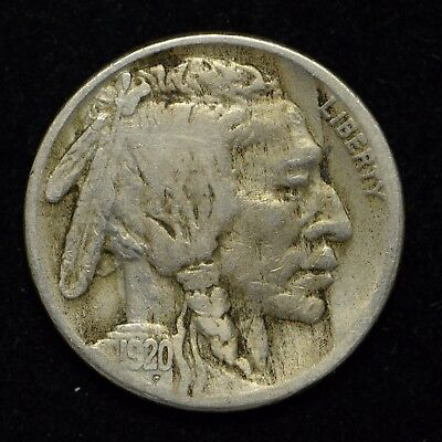 1920-S Buffalo Nickel United States Coin Cleaned (cn4222)