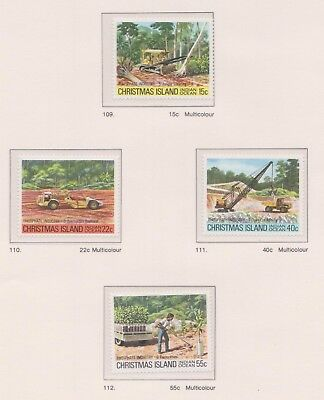 (K53-23) 1980 AU Christmas Island 4set phosphate industries part2 MUH (B)
