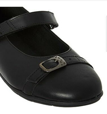 Superfit Girls Black Leather Ballerina Shoes