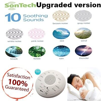 Baby Sleep Calm Sound Machine Therapy Ocean Wave White Noise Crystal Quality USB