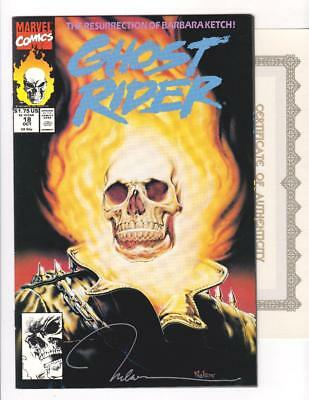 GHOST RIDER 18 NM- (9.2) SIGNED by NELSON FARO DECASTRO w/COA  (SHIPS FREE)*