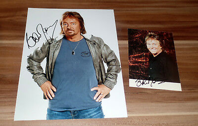 Chris Norman *Smokie, Midnight Lady*, original signiertes Foto in 20x27 cm + AK