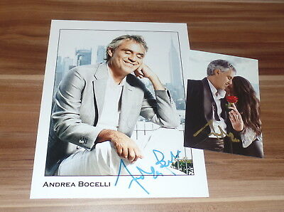 Andrea Bocelli *Klassik Tenor Italia*, original signed Photo 20x25 cm (8x10)