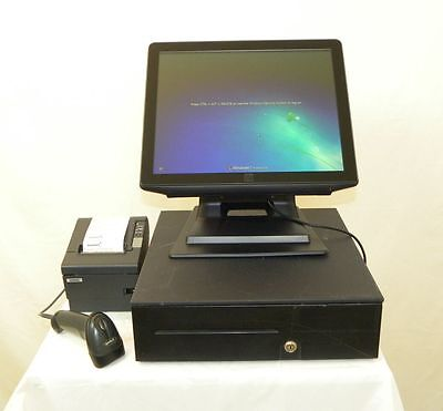 Elo All-in-One Touch Computer POS Register 17B2 E309211 W/Scanner, POS Software