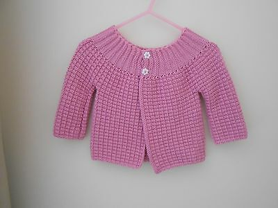 Baby Cardigan, Pink, Size 6 months