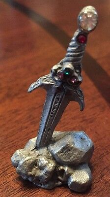 Game Of Thrones LOTR Spoontiques Rawcliffe Pewter SWORD IN STONE Vintage Unique