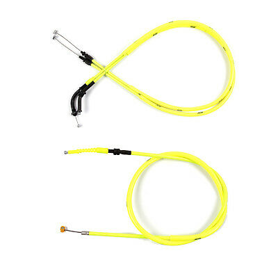 Motorcycle Yellow Accelerator THROTTLE & CLUTCH CABLES for Yamaha R1 04/05/06