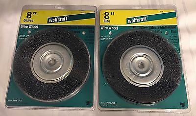 Pleasing 2 New Wolfcraft 8 Crimped Wire Wheels Coarse Fine 1413 Gmtry Best Dining Table And Chair Ideas Images Gmtryco