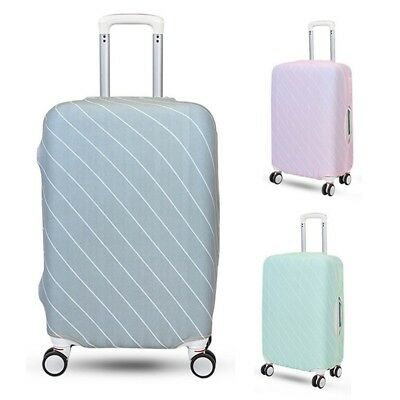 Pop Luggage Cover Striped Travel Suitcase Anti-dust Stretch Carrier Covering