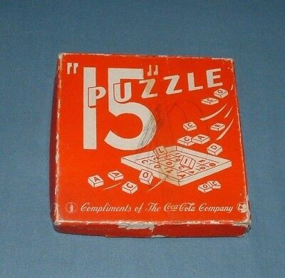"Vhtf Coca Cola ""15"" Puzzle Game - 1940's - Milton Bradley - Good Condition"