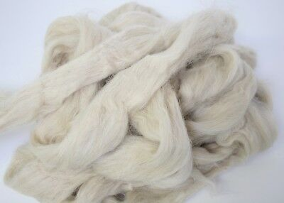 10kg Crossbred Wool top 35.0 micron roving spinning felting flocking natural