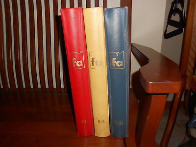 1960 FAMOUS ARTISTS COURSE, 3 BINDER Lessons 1-8, 9-16 & 17-24 +FREE GIFT