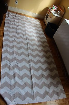 "Pottery Barn Kids - Blackout Curtains in Grey Chevron - Two 44 X 96"" panels"