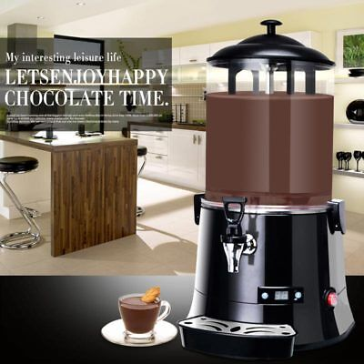 10L Hot Chocolate Machine Electric Dispenser Bain Marie Mixer wine 220V 400W../