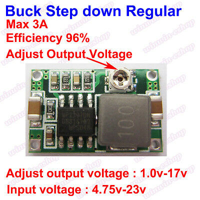 DC-DC Buck Step-down Converter 4.75V~23V to 1V-17V 3A Mini360 Model Power supply