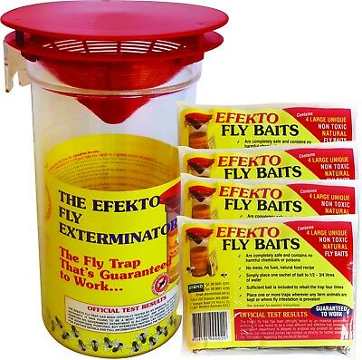Fly Trap - EFEKTO Rural with 16  Extra Refill Baits