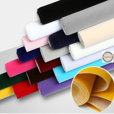 Solid Soft Velvet Flocked Felt Fabric Non Woven Roll For Bow Craft Bag Meterial