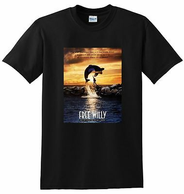 FREE WILLY T SHIRT 1993 bluray dvd poster tee SMALL MEDIUM LARGE or XL